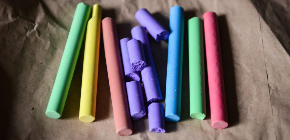 Chalk in various colors.